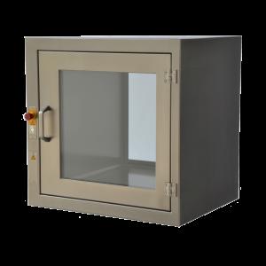 doorgeefsluis-rvs-elektrisch-interlock-opbouw-scharnieren-tussenliggende-deur