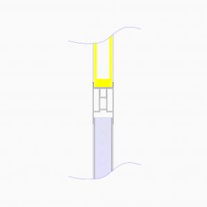 cleanroom-wand-type-oc640-tekening-doorsnede