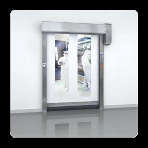 deur-snelloopdeur-cleanroom-rvs