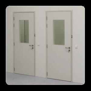 deuren-enkel-wit-staal-raam-cleanroom