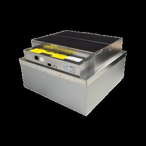 Filter-Fan-Unit type TR-IQ, complete stoffiltratie unit met ventilator, toerenregeling, voorfilter en ULPA filter.