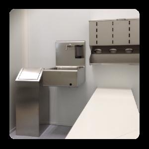 kleedsluis-dispenser-afvalbak-wasbak-overstapbank-rvs