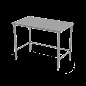 RVS cleanroomtafel met dicht werkblad.